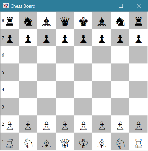 Chess Game Using Racket's Pasteboard