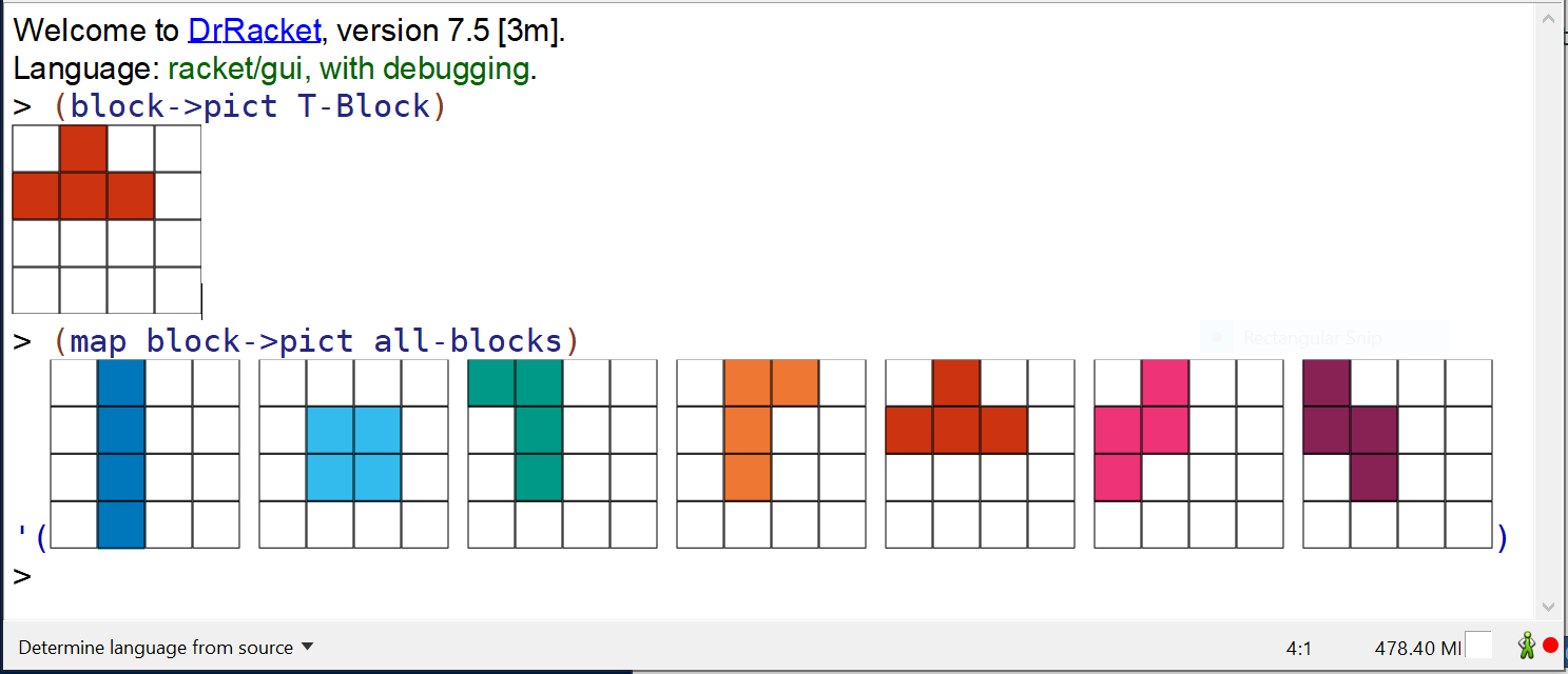 Block Picts in DrRacket REPL
